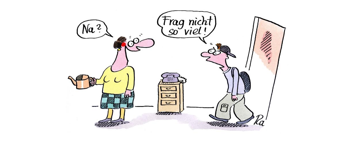 Comic von Renate Alf über Probleme von Jugendlichen